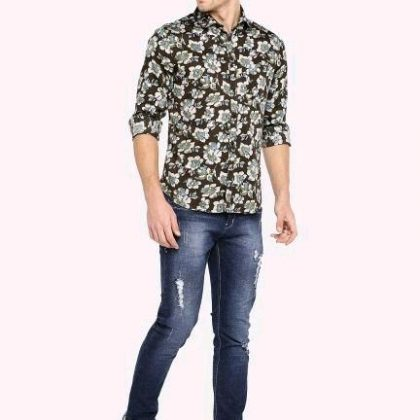 Cotton Printed Regular Fit Shirt